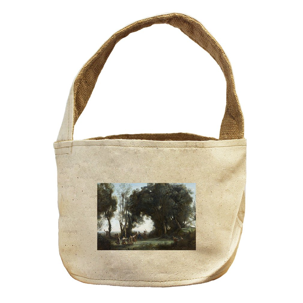 Style in Print The Dance Of The Nymphs (Camille Corot) Canvas and Burlap Storage Basket