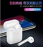 无线蓝牙耳机苹果安卓通用mini双耳入耳式蓝牙耳机运动跑步耳机 (i8X白色)