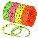 Neliblu Neon Rope Woven Friendship Bracelets Adjustable, 144 Bracelets in 4 Assorted Colors