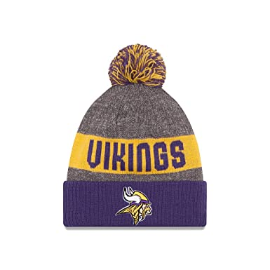 999d20b5596 Minnesota Vikings NFL Sport Knit Hat With Pom at Amazon Men s Clothing  store