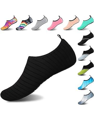 859ed323bfb Womens and Mens Kids Water Shoes Barefoot Quick-Dry Aqua Socks for Beach  Swim Surf
