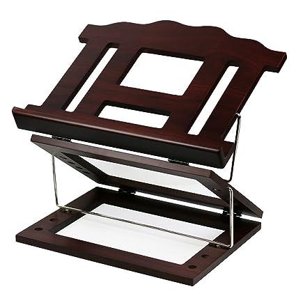 Mesa Atril para libro de Shtender dos tono madera con 2 posiciones ...