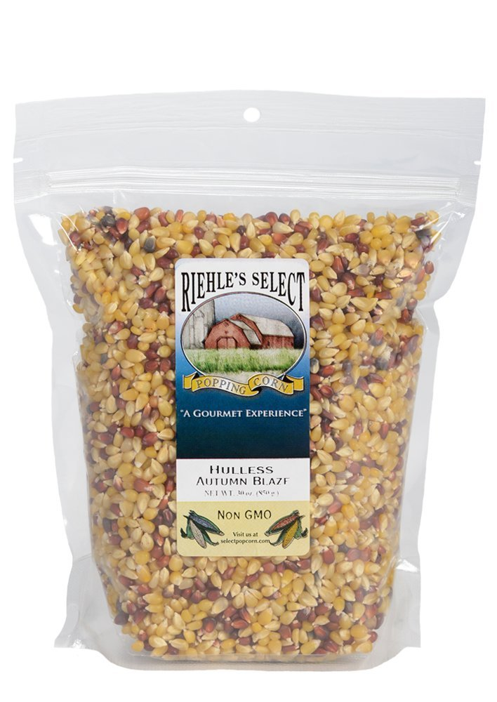 Riehle's Select Popping Corn - Hulless Autumn Blaze Whole Grain Popcorn - 2lb (30oz) Resealable by Riehle's Select Popping Corn