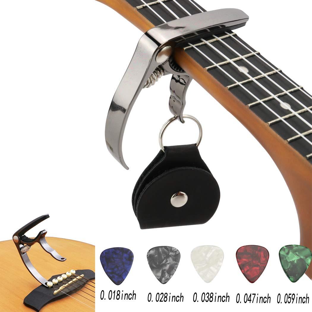 Hidear H-27 Capo Capo pour Guitare Acoustique et Guitare É lectrique Ukulele Capo Noir