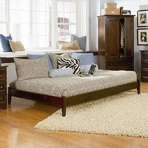 Atlantic Furniture Concord Platform Bed with Trundle in Antique Walnut