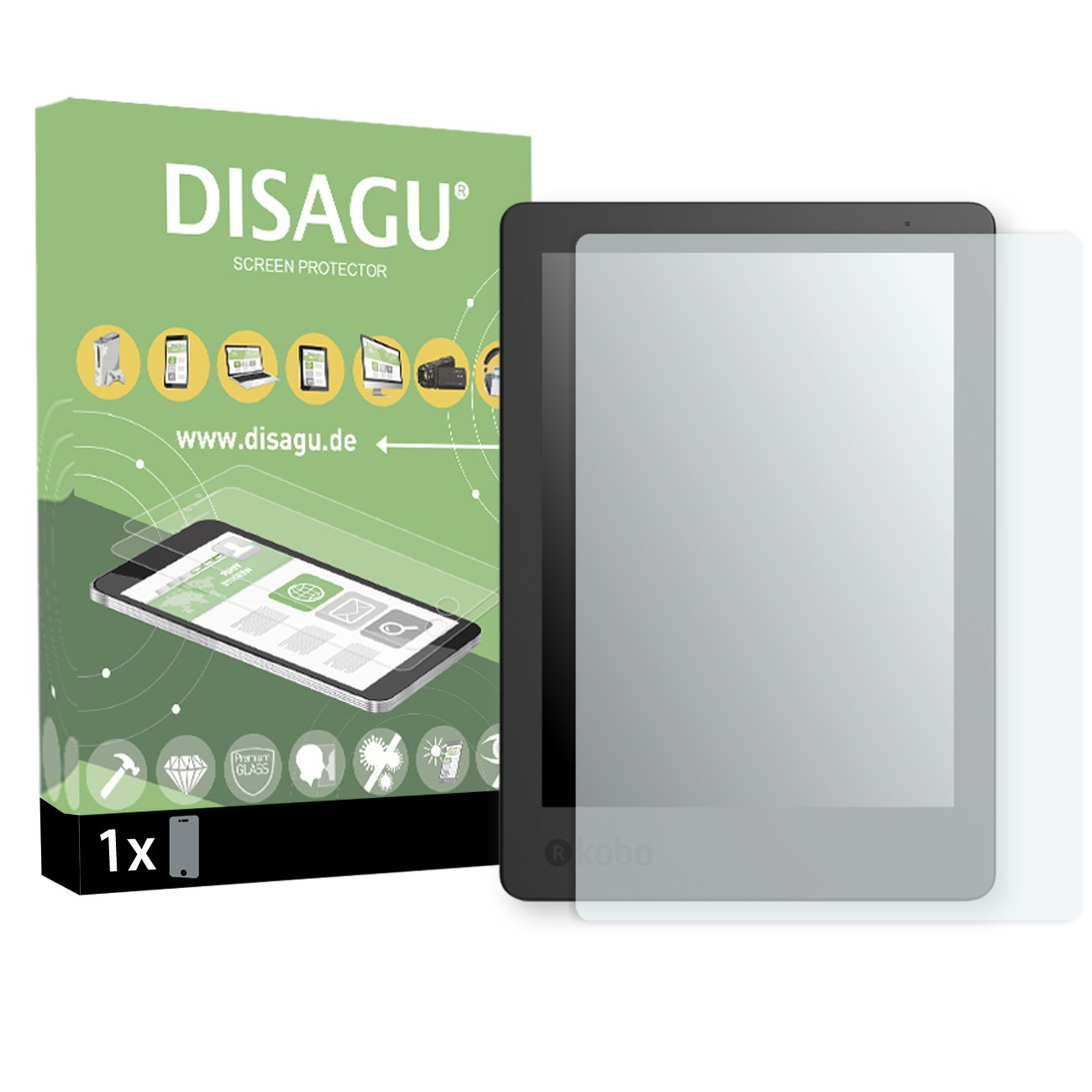 1x DISAGU Flexible Tempered Glass for Kobo Aura Edition 2 Armor Glass 9H Hard Glass Screen Protective Film 3D Compatible #tg7597