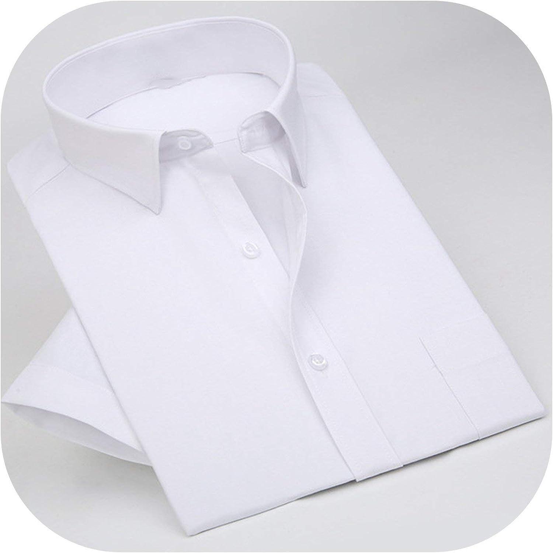 New face Mens Shirt Cotton Men Social Shirt Mens Short Sleeve Shirts Man Polka Dot Casual Plus Size 5XL,Dark Blue,M