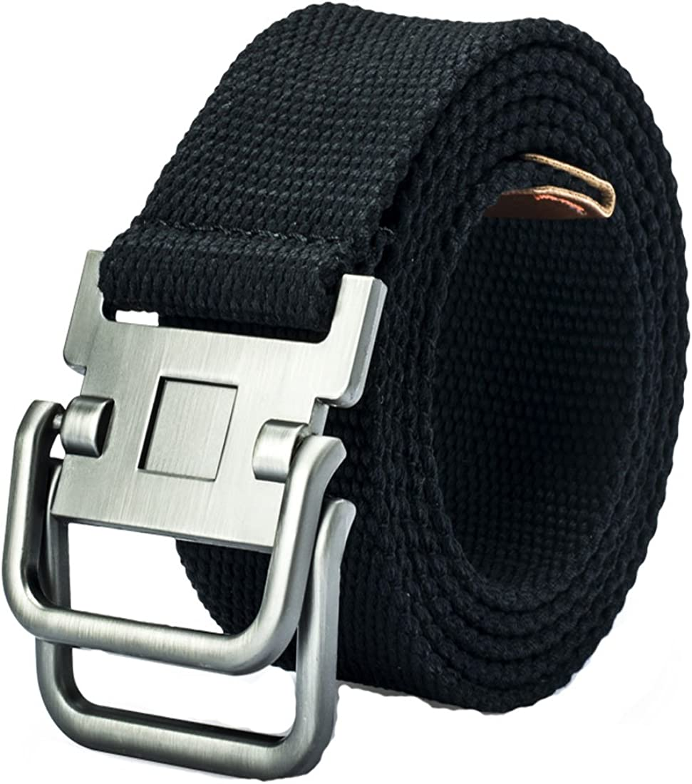 Nidicus 1.5 Wide Military Style Weave Canvas Web Belt With Double Square Ring