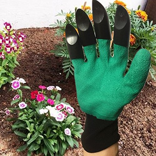 Gardener Gloves with Claws Great for Digging Weeding Seeding poking Safe for Rose Pruning Best Gardening Tool -Best Gift for Gardeners by Gaweb (Image #4)