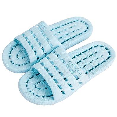 YUHUAWYH Zapatillas de Baño Unisex Zapatillas de Piso de Interior Sandalia de Verano Antideslizante (38, Sandía roja)