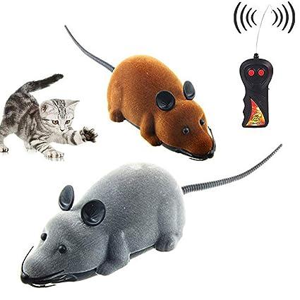 CLCASES - Ratón con Mando a Distancia, Juguete para Gatos, Perros ...