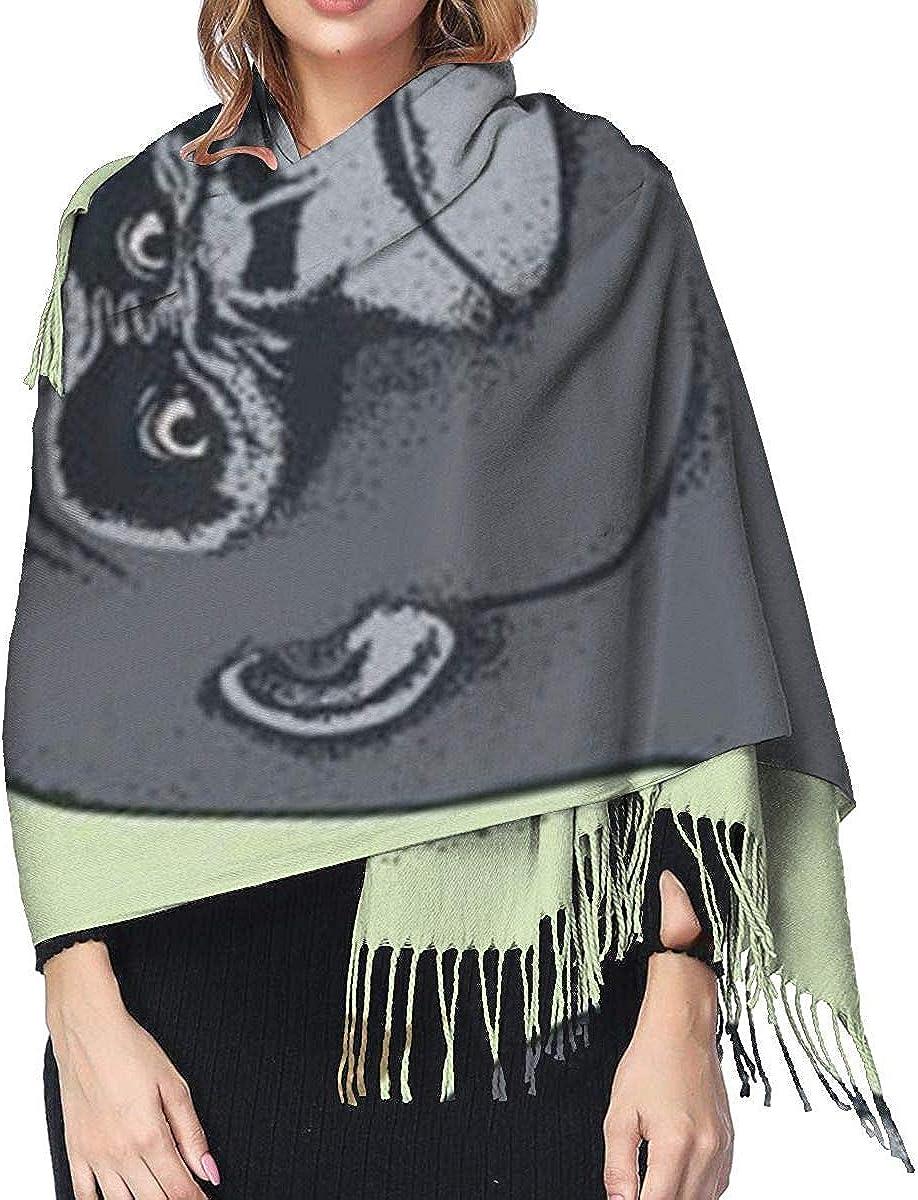 Gorilla Chimpanzee Banana Womens Scarf Large Soft Silky Pashmina Cashmere Shawl Wrap