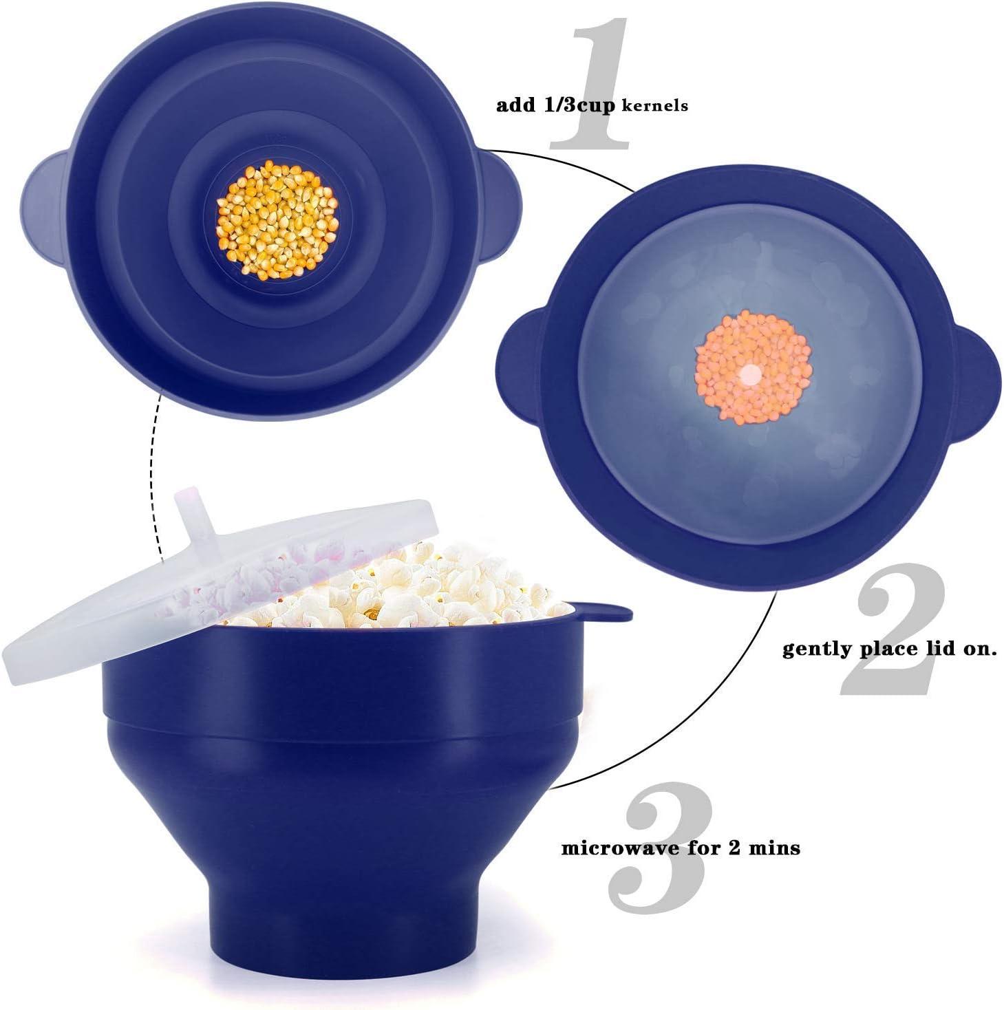 Amazon.com: Microondas Silicona Popcorn Popper, libre de BPA ...