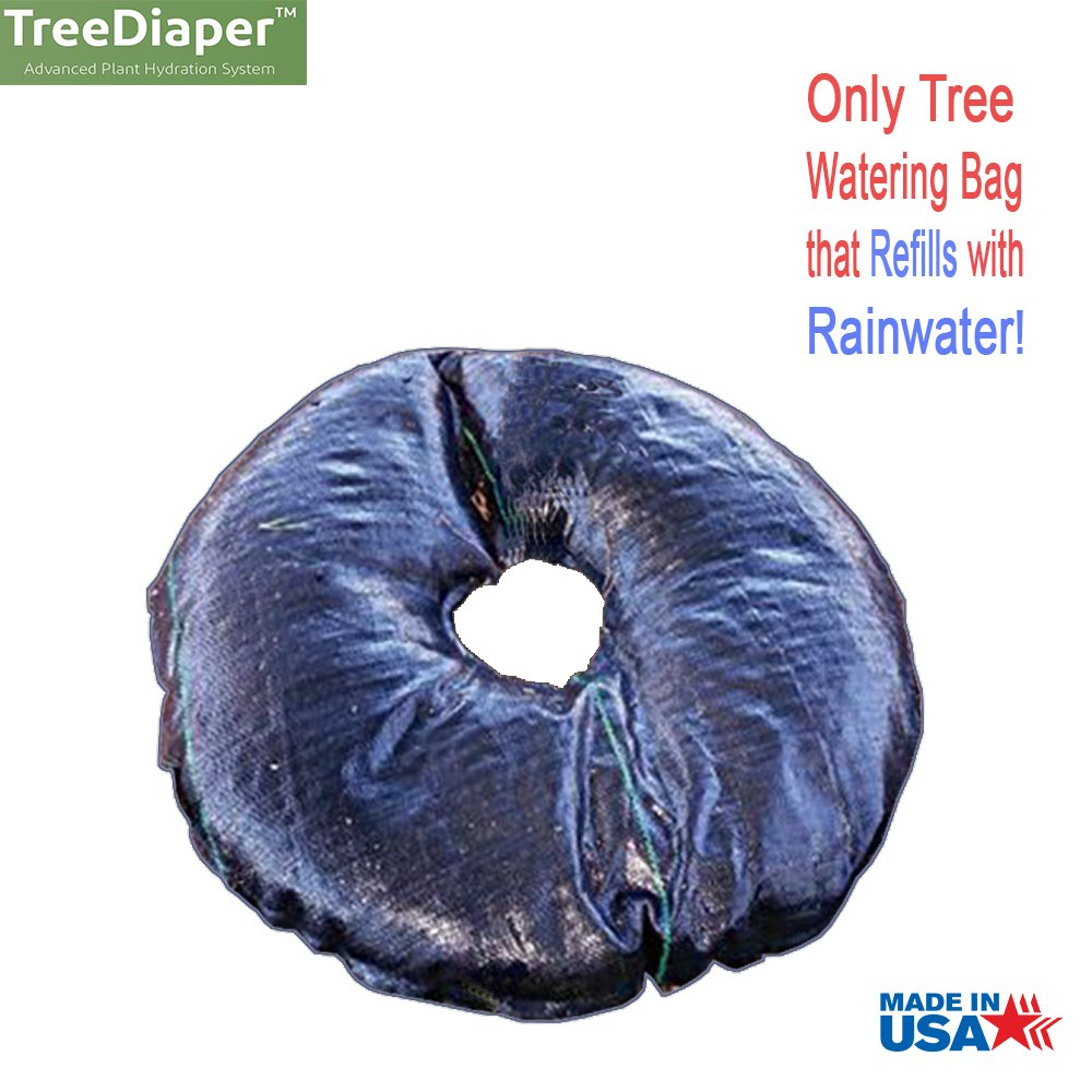 Smart Tree Watering Bags - AUTO REFILLS WITH RAIN and Slow Releases As Plant Needs - New Water Absorption Slow Release Technology Prevents Over and Under Watering - Large Self Water 36'' Ring For Trees
