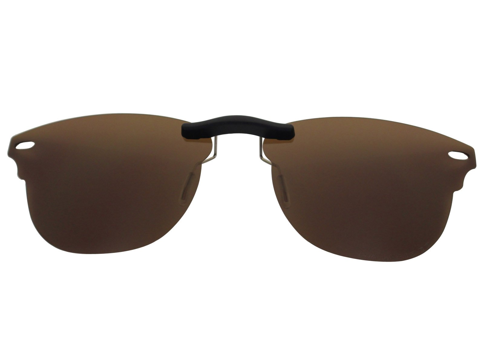 Custom Fit Polarized CLIP-ON Sunglasses For Ray-Ban RB5154 51X21 Brown by COODY