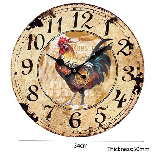 rustic chicken clock - 2