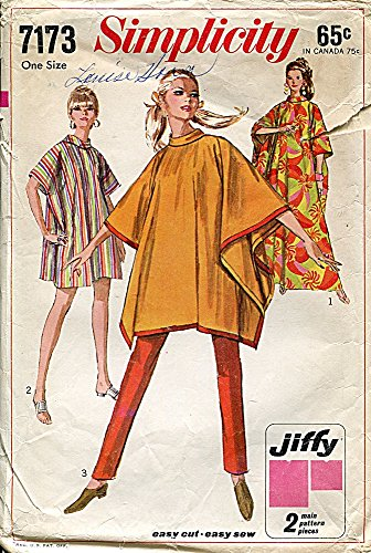 Simplicity Pattern 7173 Misses' Jiffy Poncho or Burnoose, One Size ()