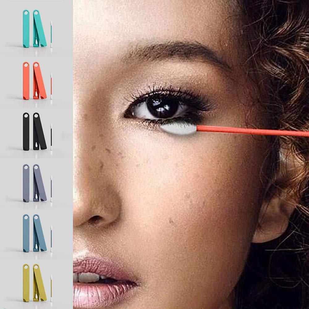 Coton-tige R/éutilisable,Cotons-tiges Silicone /à double embout m/édical,Coton tige Lavable respecter de lenvironnement pour le maquillage,Coton tige Nettoyage des oreilles,Yeux,cils Facile /à Nettoyer