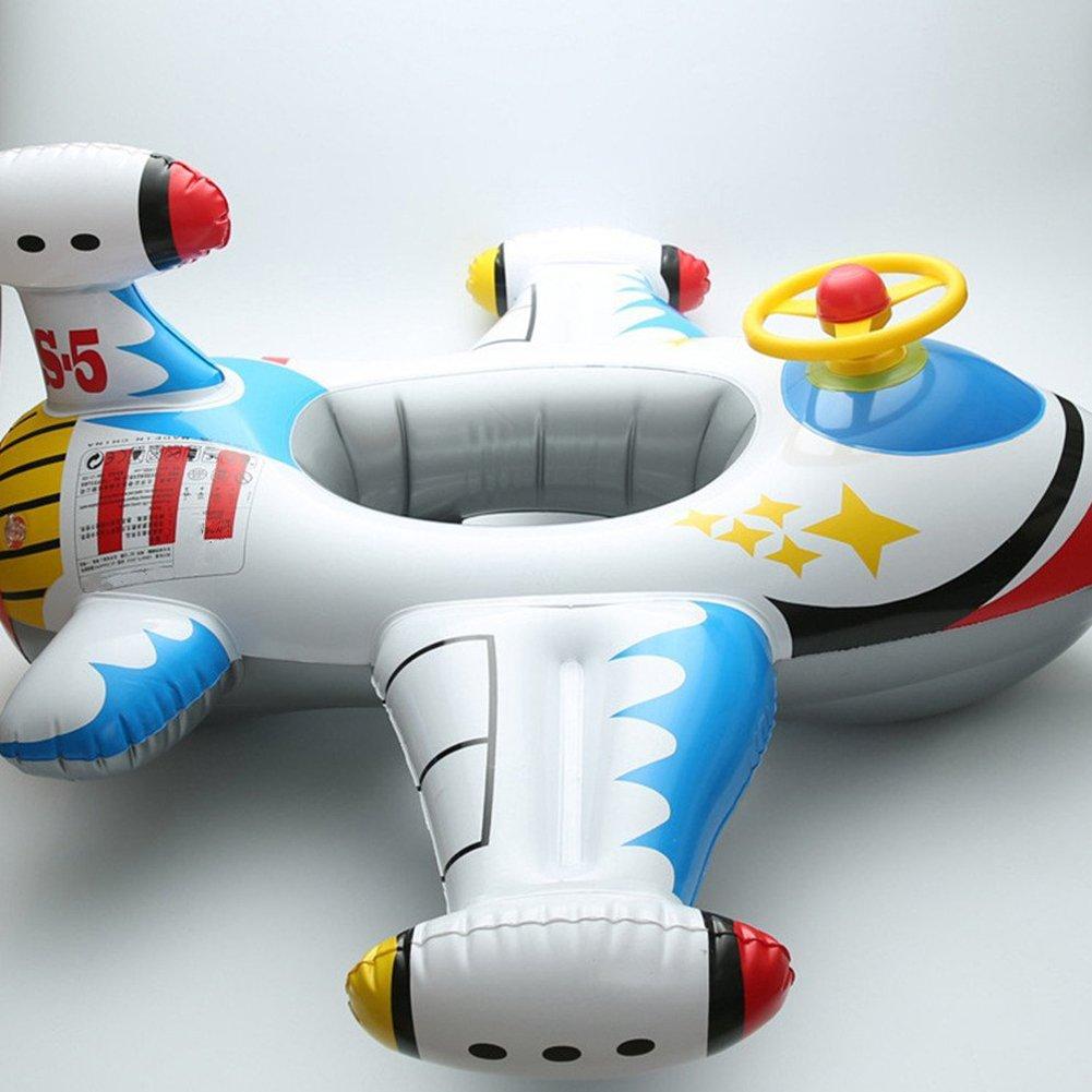 ED-Lumos Bou/ée Gonflable Jeu de Plein Air pour Enfant B/éb/é Piscine Forme de Avion Rouge Jeu deau