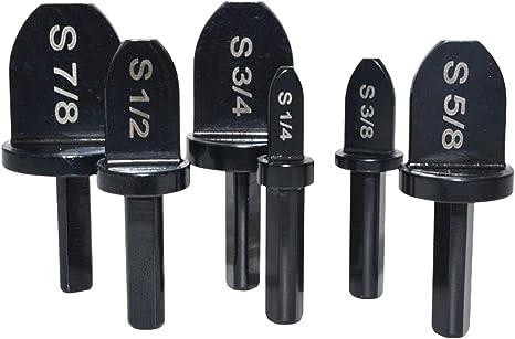 """6Pcs Swaging Tool Drill Bit Set 1//4/"""" 3//8/"""" 1//2/"""" 5//8/"""" 3//4/"""" 7//8/"""" Tube Expander Kit"""