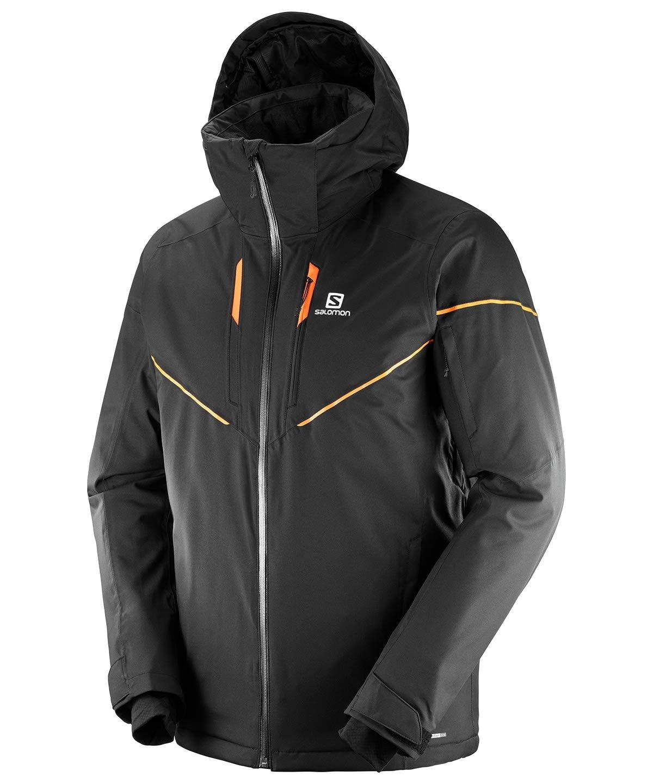 サロモン スキーウェア ジャケット メンズ ストームレース ジャケット STORMRACE JKT M BK L(EU-M) B07GBWRDK2