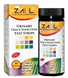 ZAEL Urine Tract Infection Test Strips, 50 tests / bottle. 3 UTI Tests in One - Leukocyte (white blood cells), Nitrite Tests, pH Test. FREE BONUS