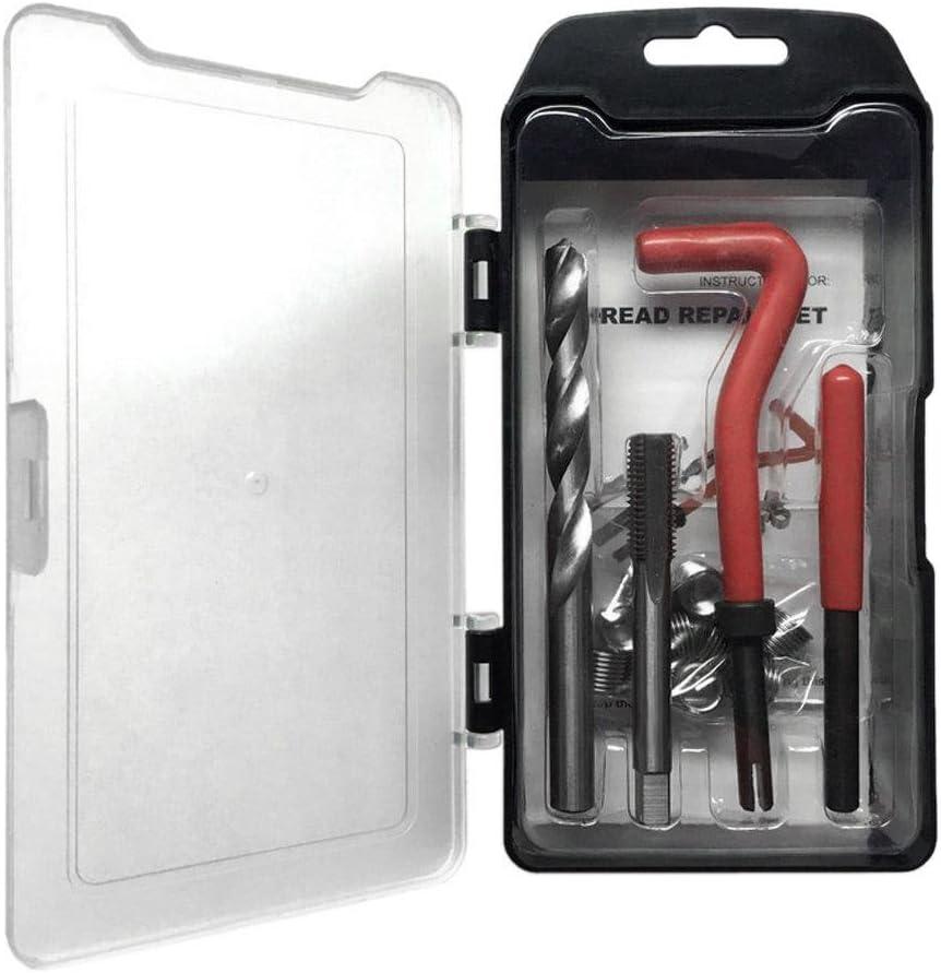 tuankay 15pcs Helicoil Thread Repair Kit M10 x 1.25 10 Wire Thread Inserts