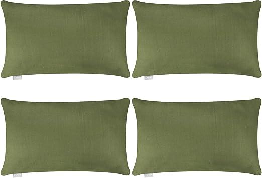 Juego de 4 fundas de almohada, de algodón, cómodas, lisas ...
