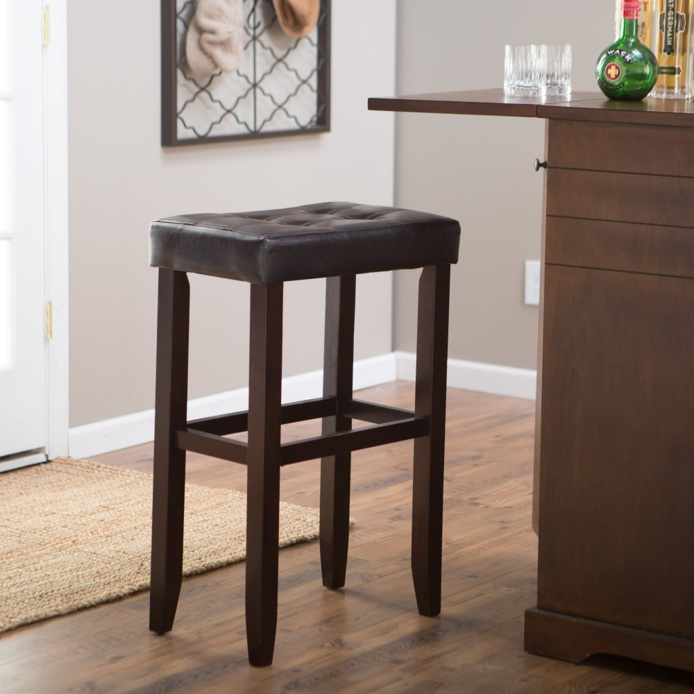 Amazon: Palazzo 32 Inch Extra Tall Saddle Bar Stool : Home Improvement