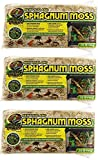 Zoo Med 3 Pack of New Zealand Sphagnum Moss, 0.33