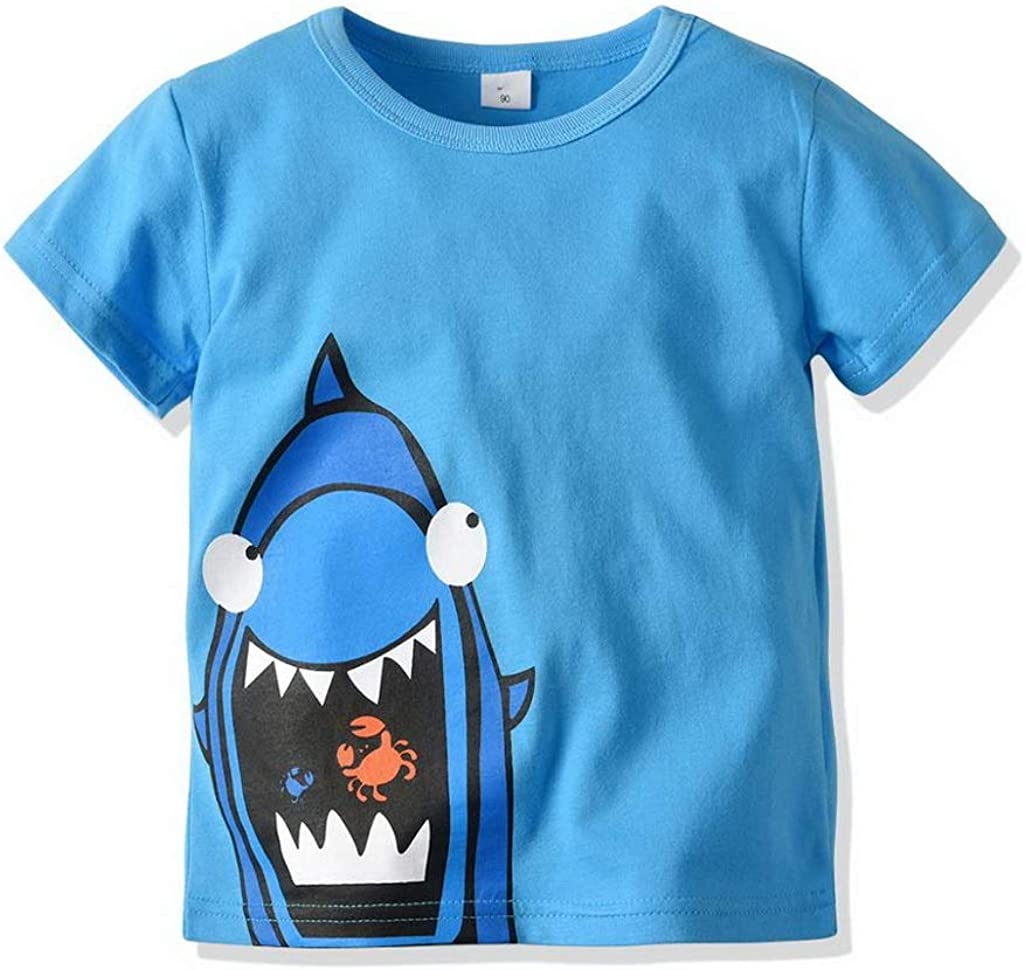T Shirt 3 PCS Casual Fashion Toddler Baby Boys Girls Cotton Style Short Sleeve O Neck Print T Shirts for 2 7 Year Old