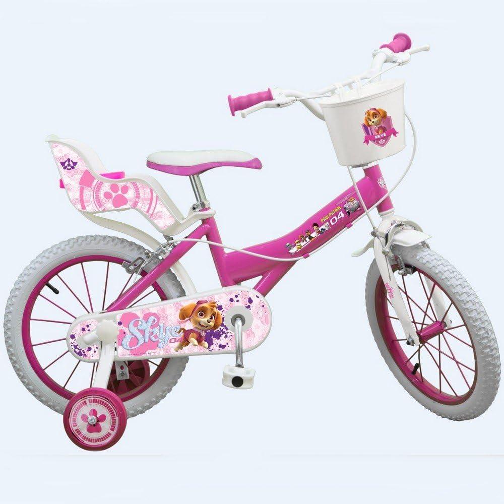 Bicicleta oficial La Pat Patrulla 16 pulgadas Disney niña chica: Amazon.es: Deportes y aire libre