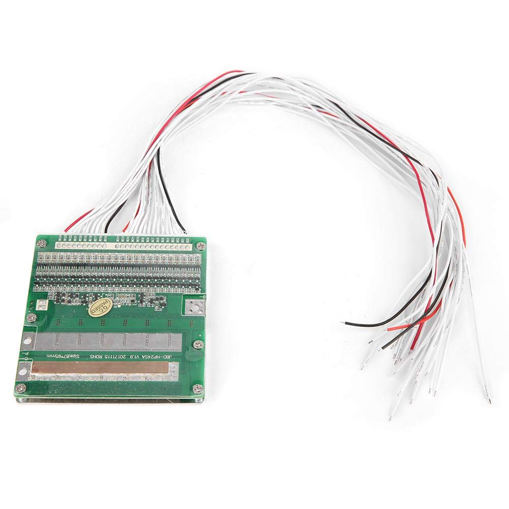 Lithium Battery Protection Board, 24S 3.7V 40A Same Port Lithium Battery Protection Board BMS with Balance Light by Taidda