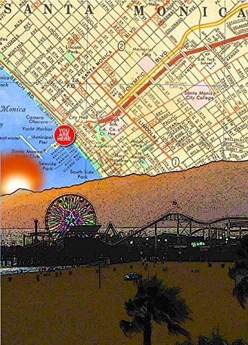Amazon.com: Santa Monica Pier Sunset, Santa Monica/Los ... on walt disney concert hall map, santa monica college map, pier 39 map, south coast botanic garden map, santa monica airport map, the getty center map, grauman's chinese theatre map, playa del rey ca map, aquarium of the pacific map, knott's berry farm map, 3rd street promenade map, santa monica mountains map, santa monica high school map, cbs studios map, house of blues anaheim map, pacific park map, san quentin state prison map, old mission santa barbara map, oaks amusement park map, morey's piers map,