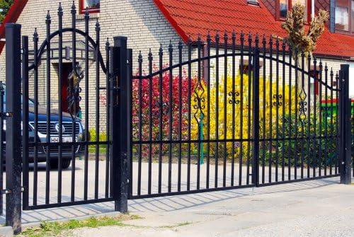 Lujo 4home 4,9 m doble – Puerta Set alas prohibida 4,0 m Incluye Puerta para jardín de 0,9 m Jardín Valla de Set Completo con puerta Elementos, postes y herraje: Amazon.es: Hogar