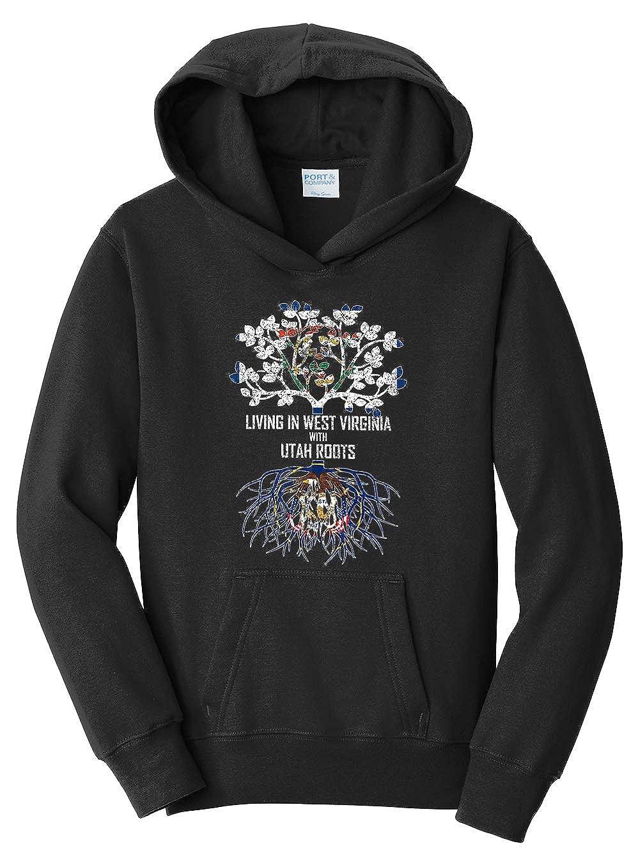 Tenacitee Girls Living in West Virginia with Utah Roots Hooded Sweatshirt