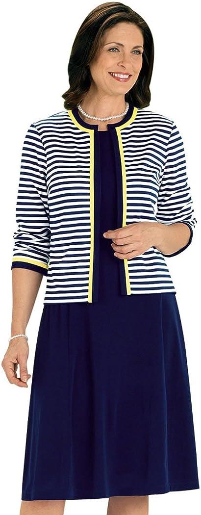 AmeriMark Striped Jacket Dress