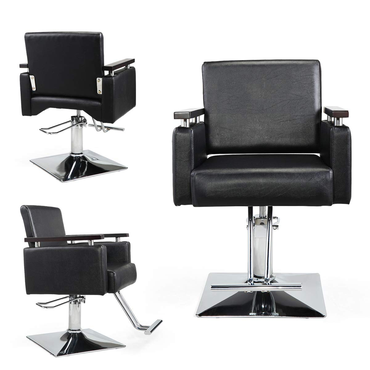 JAXPETY Hydraulic Barber Chair Wide Styling Salon Chair All Purpose Beauty Equipment by JAXPETY
