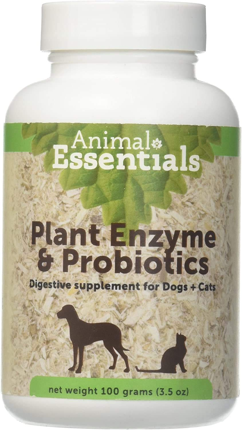 Animal Essentials Plant Enzyme & Probiotics Digestive Supplement for Dogs & Cats (Various Sizes) - Digestion Support
