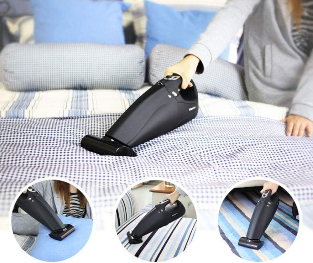 Aspirateur Aspirateur sans fil, putter à main, chargeur portable, acariens puissants, aspirateur Aspirateur (Couleur : NOIR) Noir