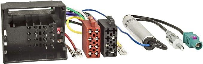 Adaptador cable enchufe ISO para autoradio de Volkswagen Scirocco Touareg Touran