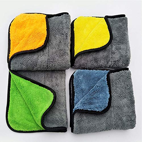 Microfiber Cleaning Cloth,Professional Grade Premium Microfiber Towels ,Drying Absorber Car Polishing Waxing Cleaning Detailing Cloth, SimpleHouseware ,4 Colors, 4-Pieces. high Absorbent, lint-Free, ()