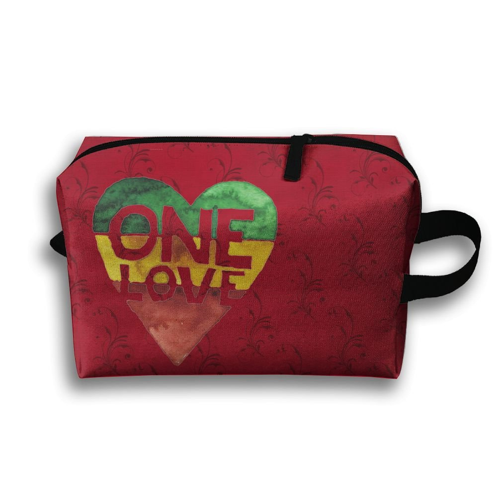 One Love Rasta Heart Travel Bag Multifunction Portable Toiletry Bag Organizer Storage