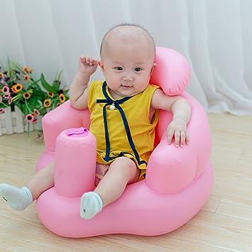 Asiento seguro para bebé, paso a aprender a inflar, juguetes para recién nacido y barco de baño, seguridad multifuncional, sofá baño, silla de ...