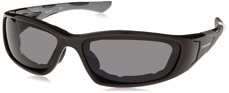 0ae7ad7861 Crossfire Safety Glasses MP7 Dark Smoke Anti-Fog Lens Shiny Black Frame  Foam Lined - Eye Protection Equipment - Amazon.com