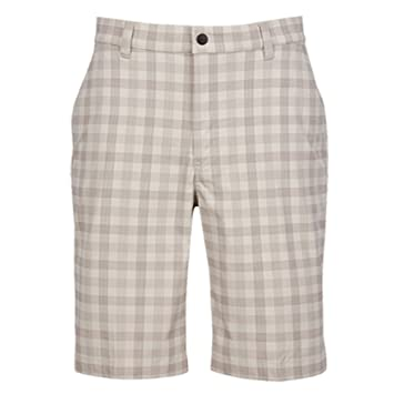 29704a2d3 Image Unavailable. Image not available for. Color  Greg Norman Hybrid Byron  Plaid Shorts-Sandbar- 35