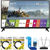 LG 55-inch Full HD Smart TV 2017 Model (55LJ5500) with 2x 6ft High Speed HDMI Cable Black, Universal Screen Cleaner for LED TVs & Durable HDTV and FM Antenna