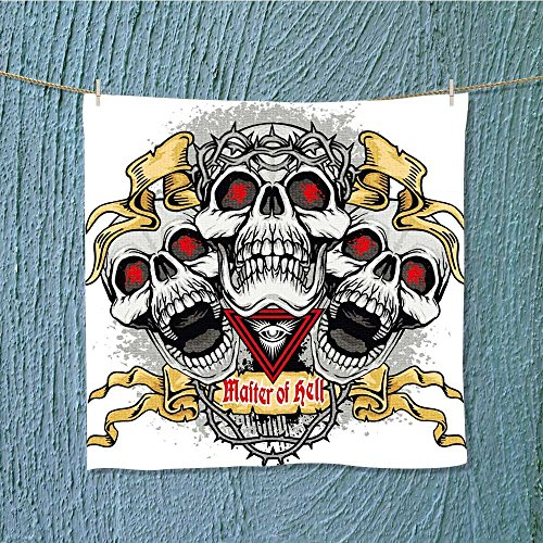 AuraiseHome swimmer towelgothic coat rms with skull and ws grunge vintage design t shirts Absorbent Ideal for everyday use W9.8 x W9.8