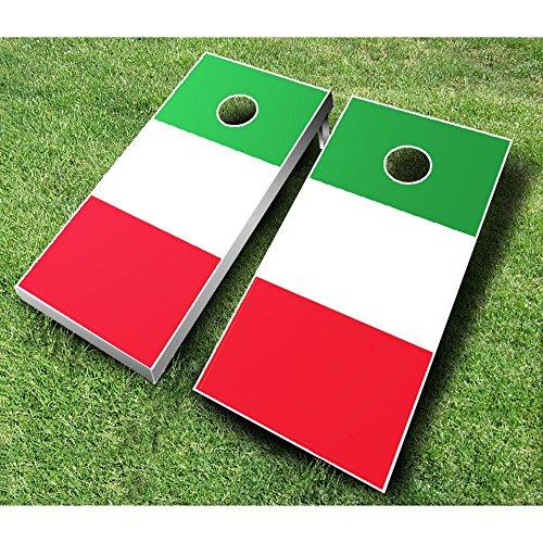 Italian Flag Cornhole Set with Bags from AJJ Cornhole