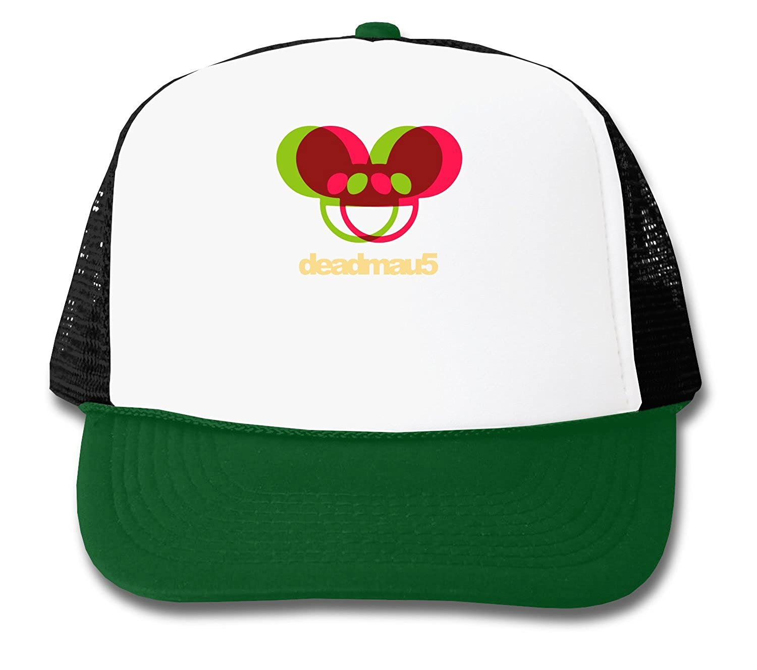 7ab5453a868 Deadmau red and green funny logo graphic design trucker cap clothing jpg  1500x1329 Deadmau5 green hat